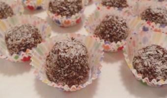 Receta deliciosa: bolitas de chocolate, avena y dulce de leche
