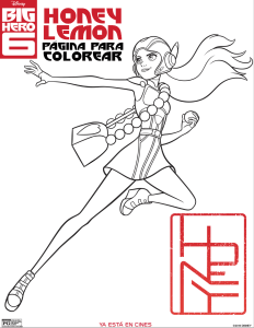 dibujo para colorear honey lemon big hero 6