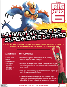 tinta invisible de big hero 6