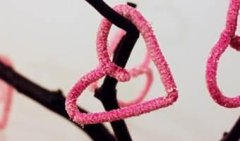 Manualidad: cómo hacer corazones de cristal con bórax
