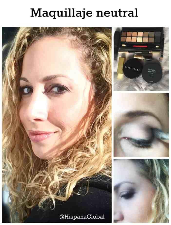 Maquillaje neutral en tonos tierra