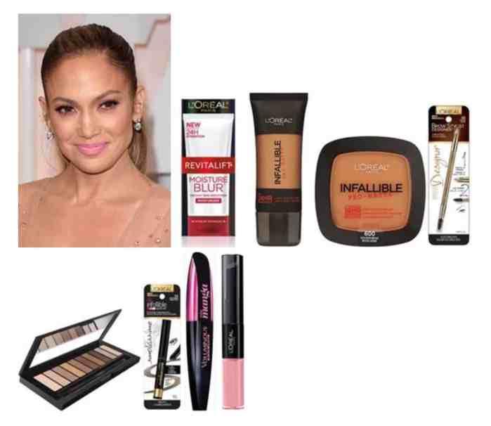 maquillaje de Jennifer Lopez