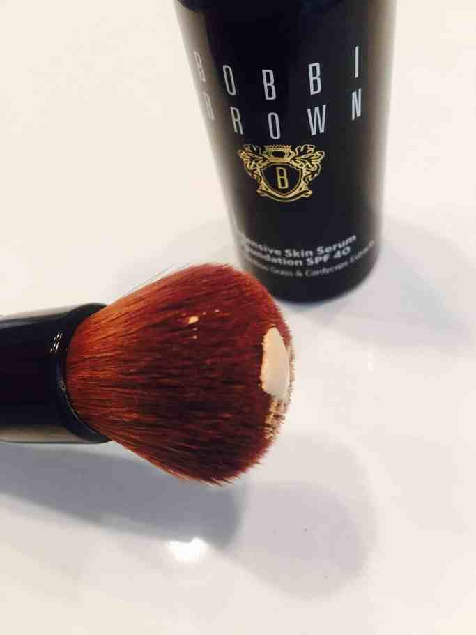 skin serum foundation on brush