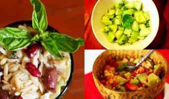 3 ensaladas deliciosas y fáciles de preparar