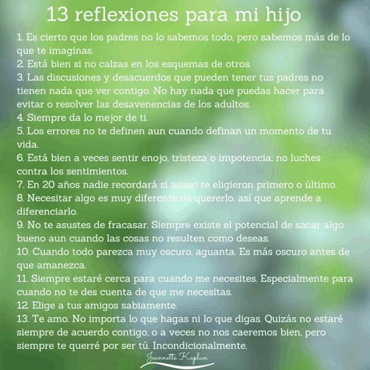 13 reflexiones para mi hijo