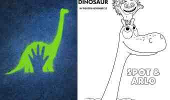 Figuras para colorear gratis de Un Gran Dinosaurio