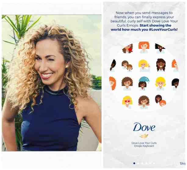 Emojis and emoticons for Curly hair