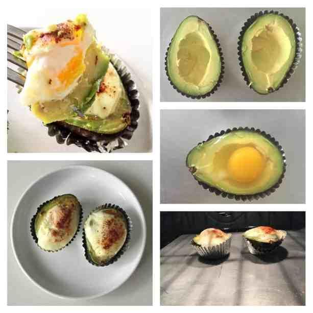 Aguacate con huevo horneado