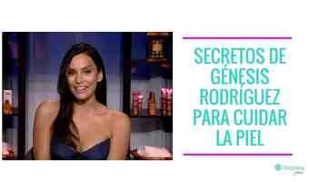 Los secretos de Génesis Rodríguez para cuidar la piel