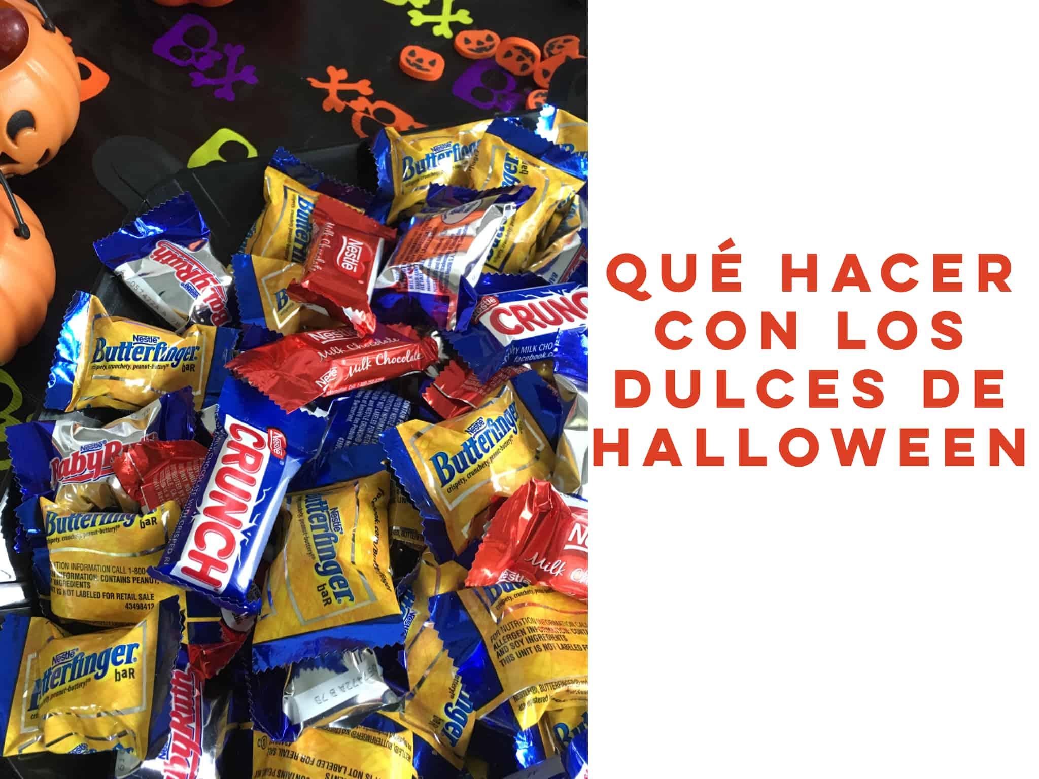 Qué hacer con los dulces de Halloween que sobran