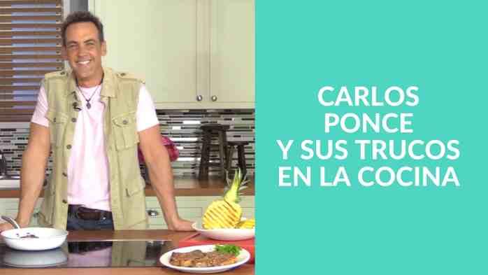 Carlos Ponce revela sus trucos a la hora de cocinar y sus planes futuros