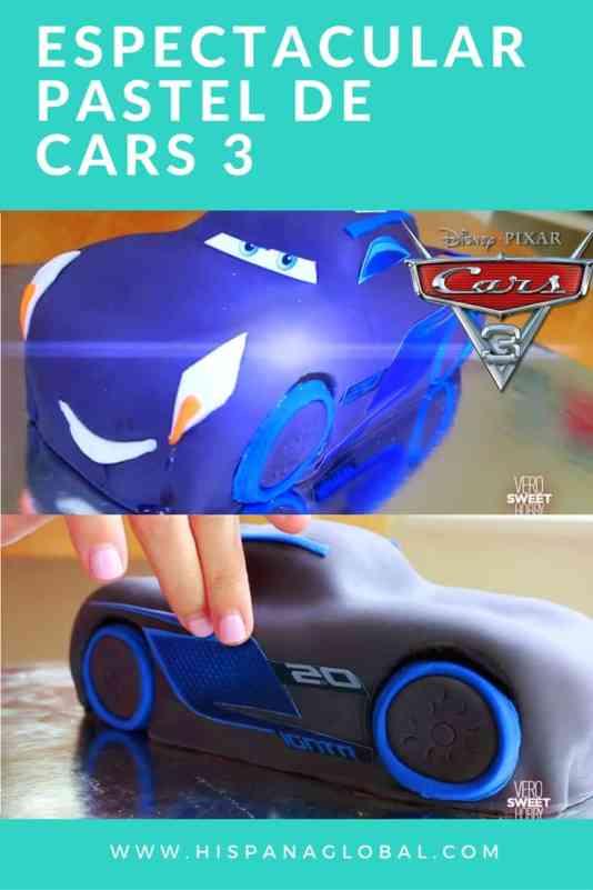 Espectacular pastel de Cars 3