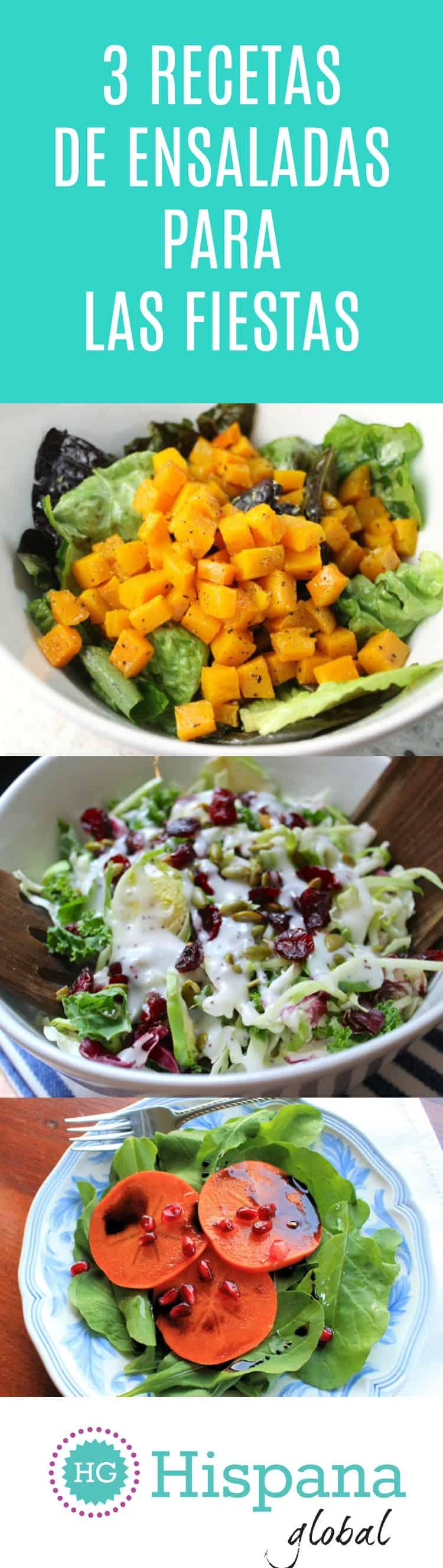 3 recetas de ensaladas deliciosas para las fiestas de fin de año
