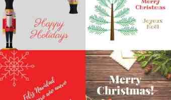 Imprime en casa estas tarjetas de Navidad gratis