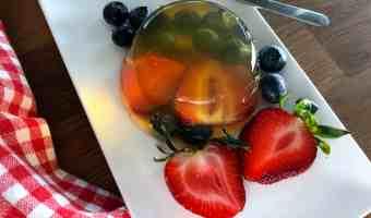 Cómo hacer gelatina con frutas de verdad