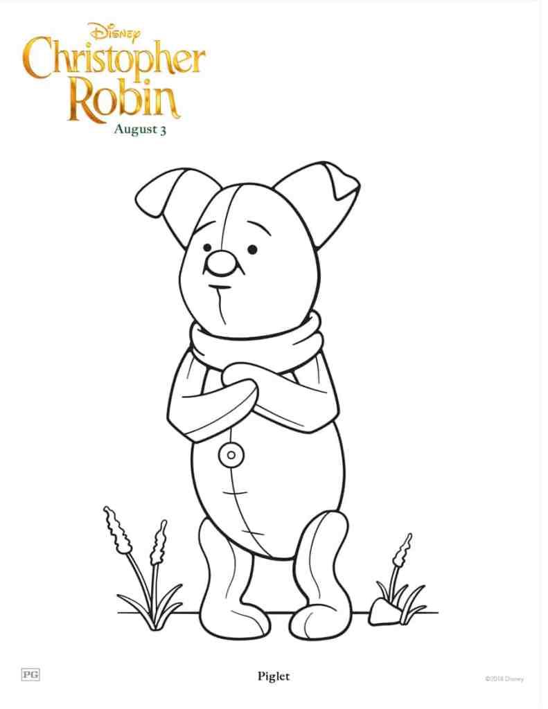 7 Dibujos para colorear gratis de Christopher Robin - Hispana Global