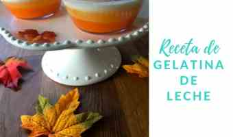 Receta de gelatina de leche tipo candy corn para Acción de Gracias
