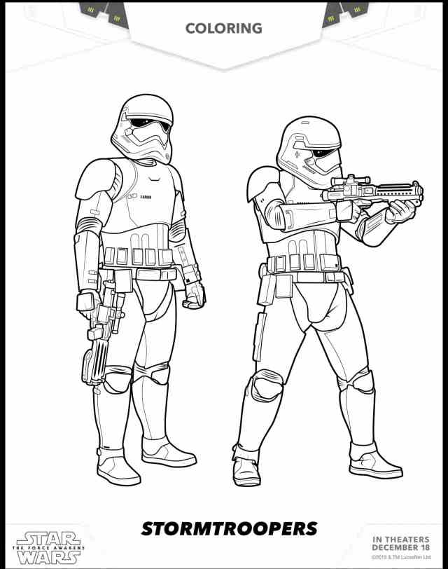 30 Free Star Wars: The Force Awakens Coloring Sheets - Hispana Global