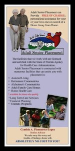 "Marketing Brochure with Pictures for Company "" Adult Senior Placement"""