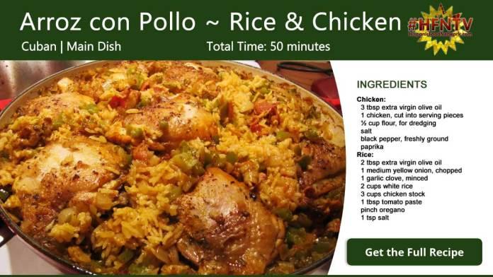 Arroz con Pollo ~ Rice with Chicken Recipe Card