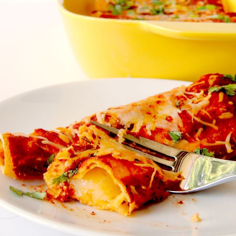 Easy Enchilada Idea That's Colorful and Creative