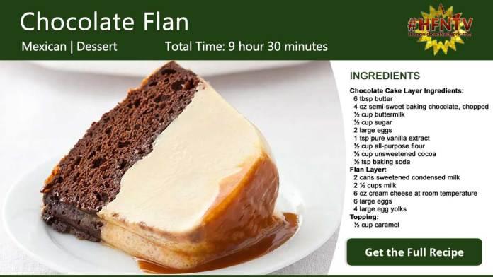 Chocolate Flan ~ Flan de Chocolate Recipe Card