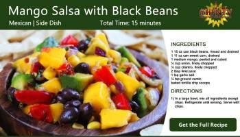 Mango Salsa with Black Beans Recipe Card