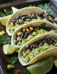 Vegetarian Mexican Salsa Roja Black Bean Taco Recipe