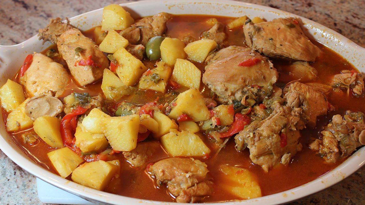 Pollo en Fricasé Guisado Recipe