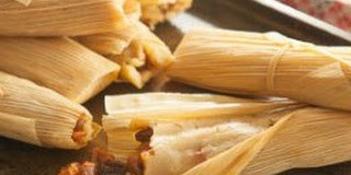 Sweet Raisin Tamales with Pineapple, Coconut & Pecans recipe