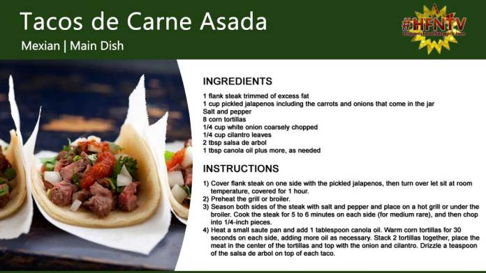 Beef Tacos (Tacos de Carne Asada)