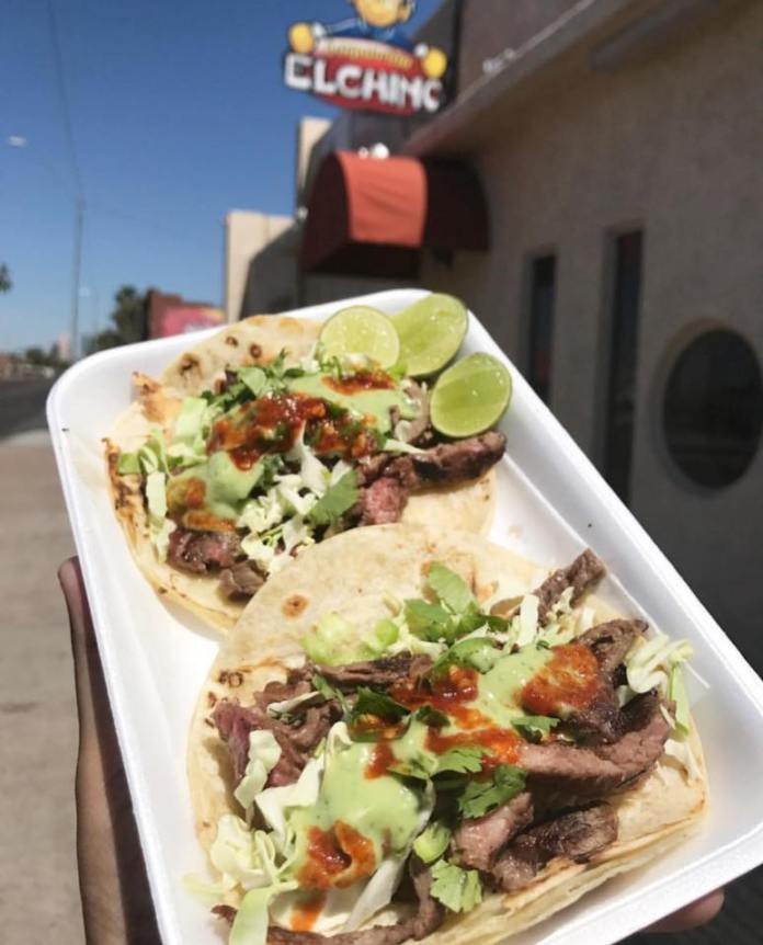 You can find Taqueria El Chino on 18TH AVE and Van Buren Street near the state capital.