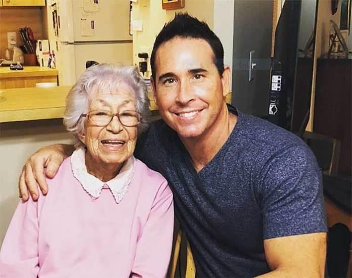 Mike Gonzalez with his Grandmother Petra Gonzalez
