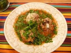 Albóndigas con Chipotle (Chipotle Sauce Meatballs)