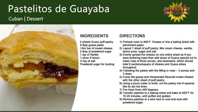 Pastelitos de Guayaba