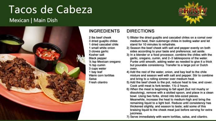 Tacos de Cabeza Recipe