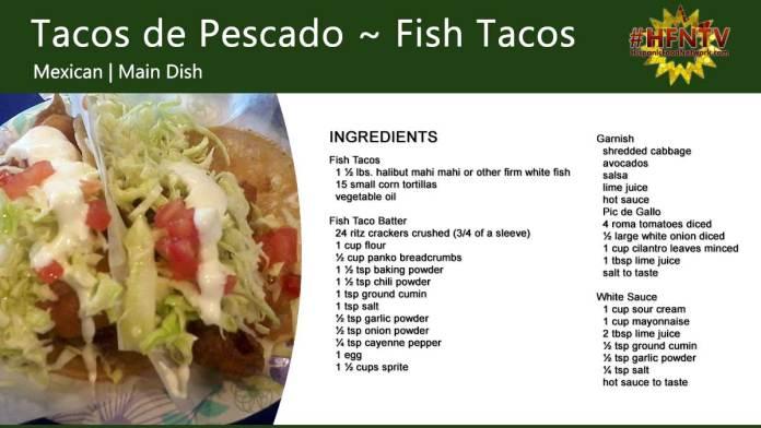 Tacos de Pescado ~ Fish Tacos