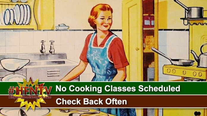 No Cooking Classes Scheduled