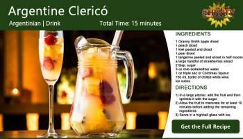 Argentine Clericó ~ White Wine Punch