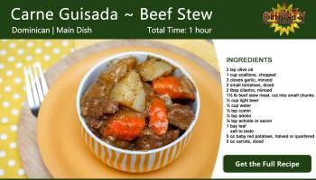 Carne Guisada ~ Beef Stew Recipe Card