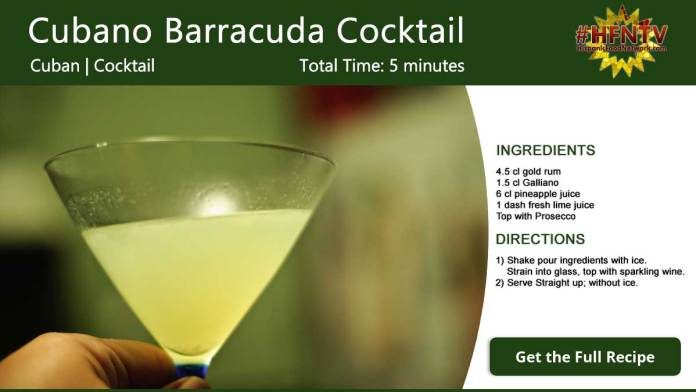 Cubano Barracuda Cocktail Recipe Card