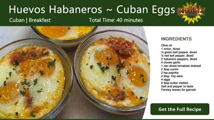 Huevos Habaneros ~ Habanero Eggs Recipe Card