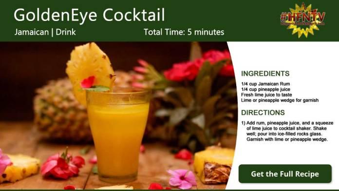 The GoldenEye Cocktail Recipe Card