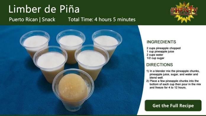 Limber de Piña ~ Pineapple Limber Recipe Card