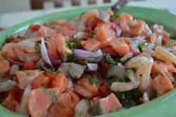 Shrimp and Salmon Ceviche