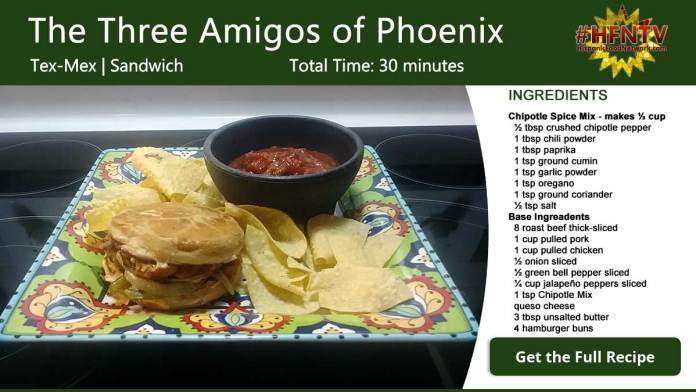 Three Amigos of Phoenix Recipe Card