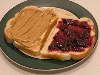 I've never eaten a peanut butter and jelly sandwich
