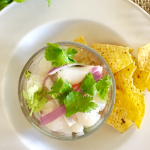Peruvian Fish Ceviche With Avocado Salsa