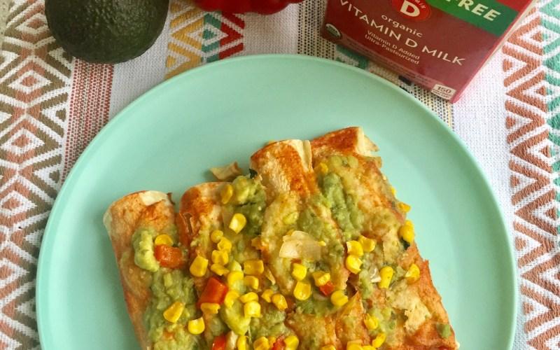 Creamy Veggie Enchiladas