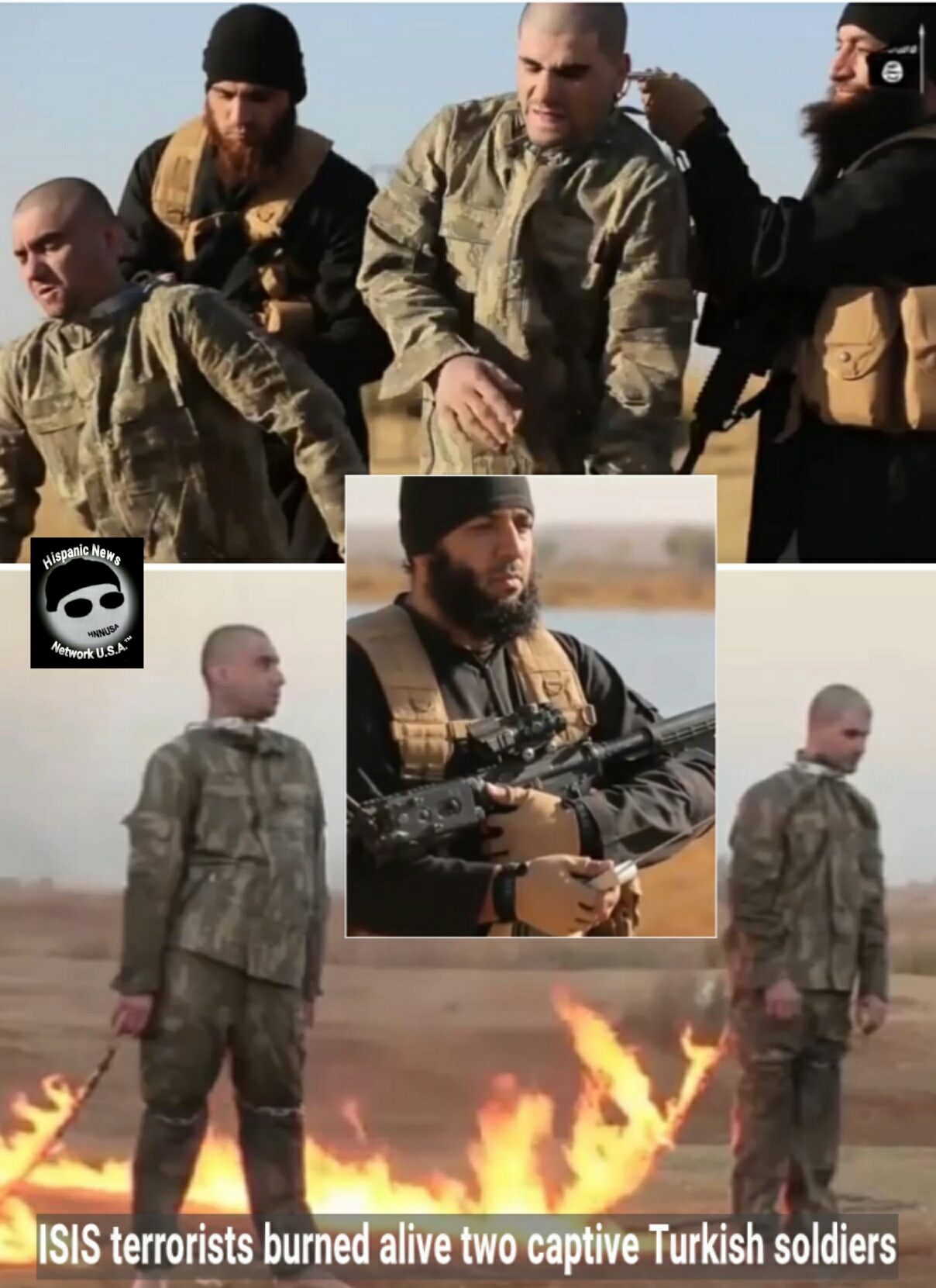 Video Shows Several Turkish Soldiers Burned Alive By ISIS